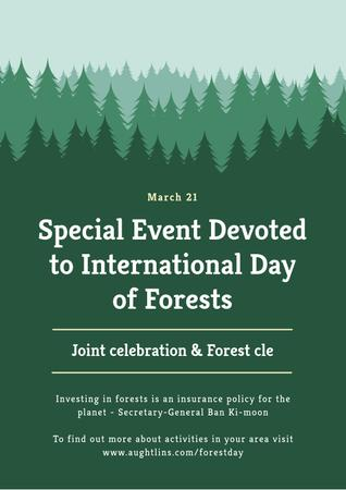 Plantilla de diseño de Special Event devoted to International Day of Forests Poster