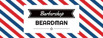 Barbershop Ad with Striped Lamp Facebook Video Cover