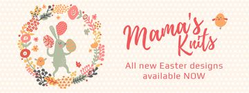 Easter Greeting Bunny and Colored Eggs | Facebook Video Cover Template