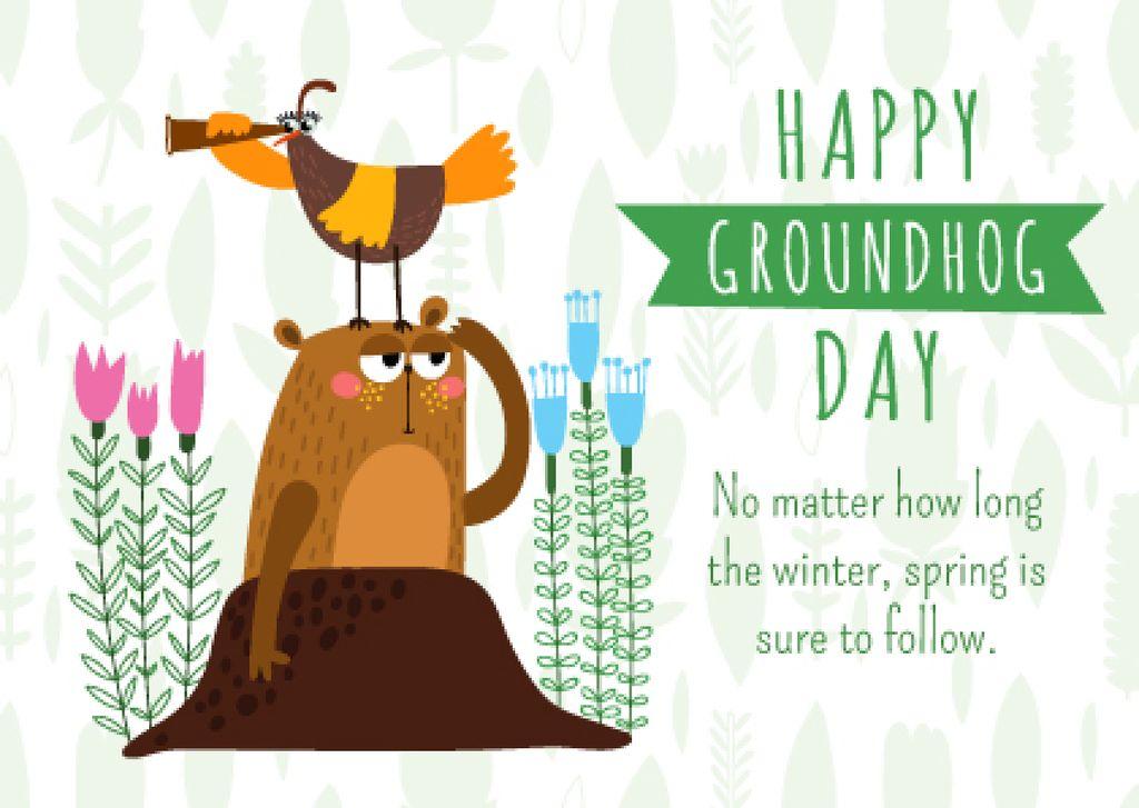 groundhog day greeting card — Maak een ontwerp