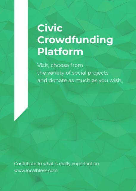 Template di design Crowdfunding Platform ad on Stone pattern Flayer