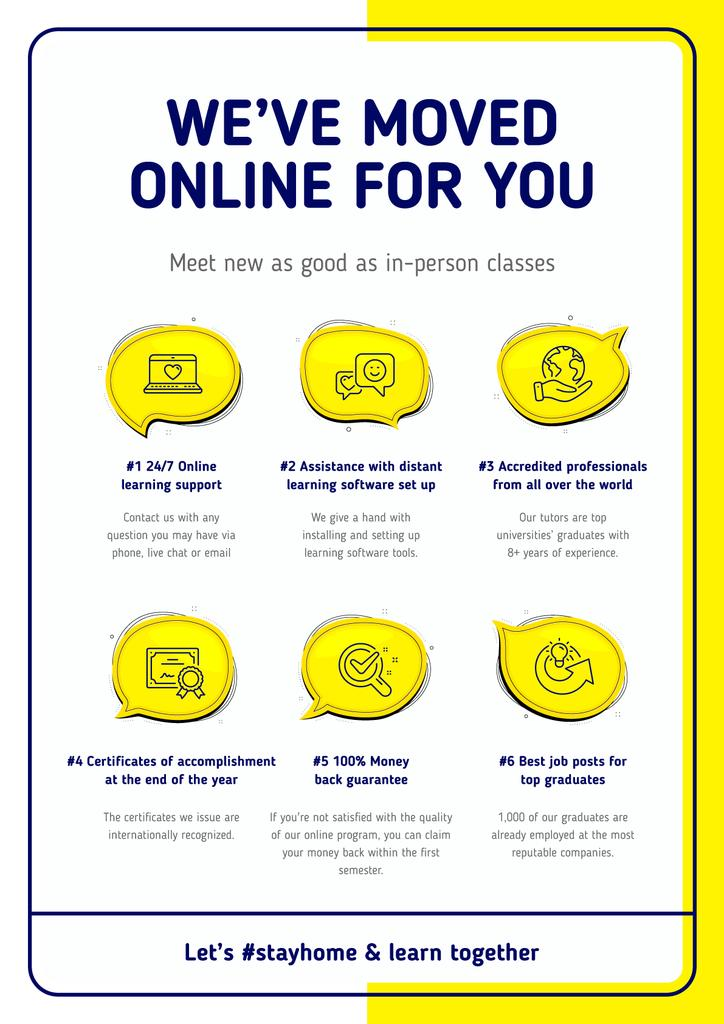 #StayHome Online Education Courses benefits —デザインを作成する