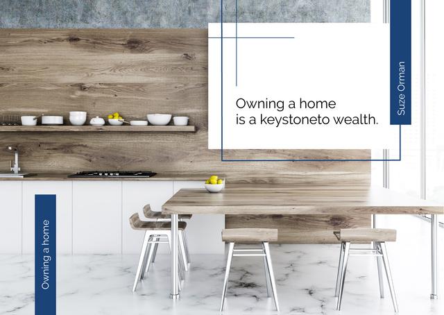Stylish dining room Interior Postcard Modelo de Design