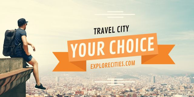 Travel city advertisement Image Design Template