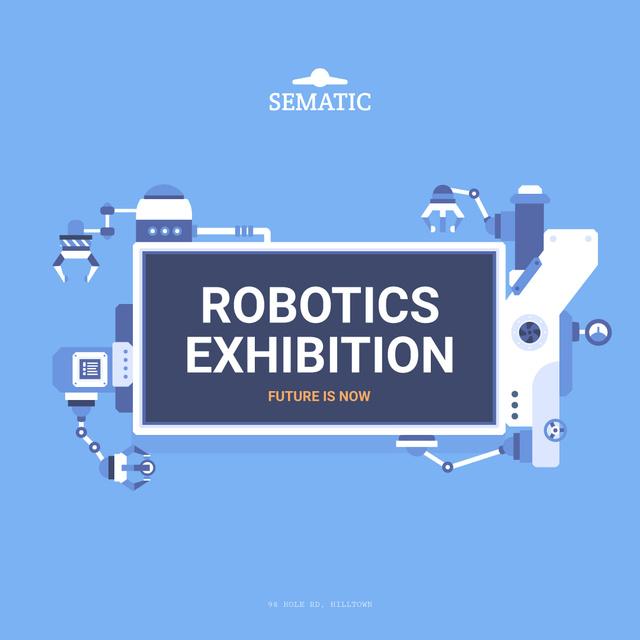 Robotics Exhibition Ad Automated Production Line Instagram AD Modelo de Design