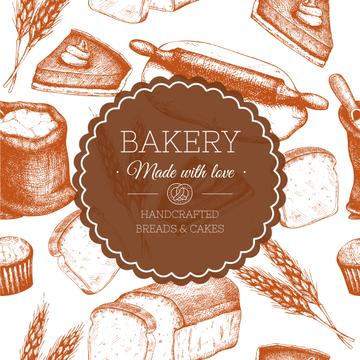 Bakery handdrawn poster