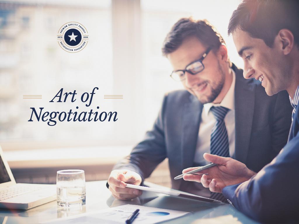 Art of Negotiation poster — Создать дизайн
