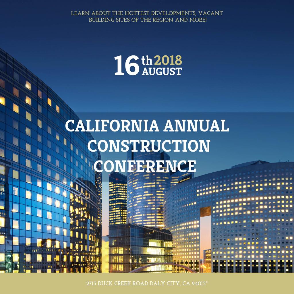 Annual construction conference announcement — ein Design erstellen