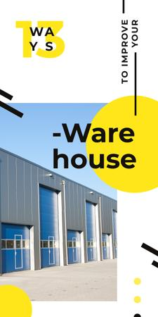 Plantilla de diseño de Industrial warehouse building Graphic