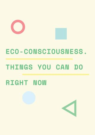 Eco-consciousness concept Posterデザインテンプレート