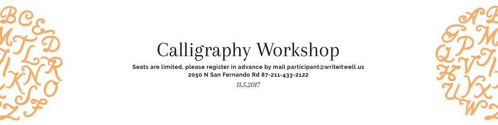 Calligraphy workshop Invitation — Maak een ontwerp