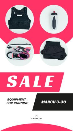 Sale Offer Sports Equipment in Pink Instagram Story Modelo de Design