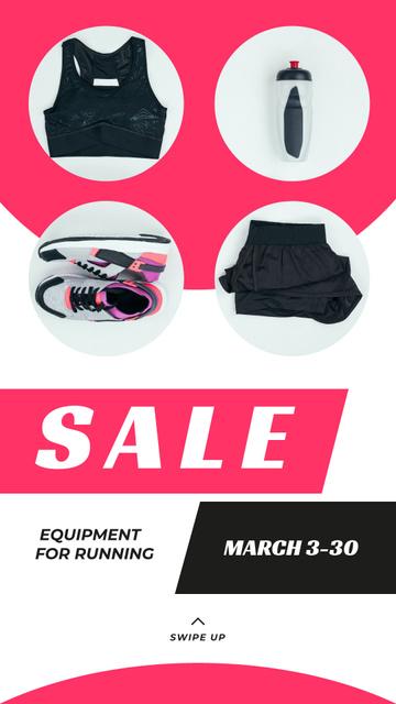 Plantilla de diseño de Sale Offer Sports Equipment in Pink Instagram Story