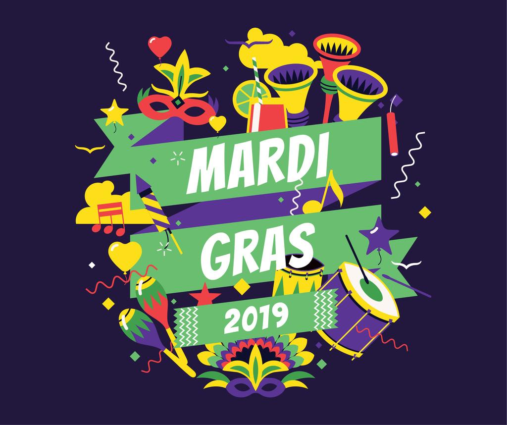 Mardi Gras carnival attributes — ein Design erstellen
