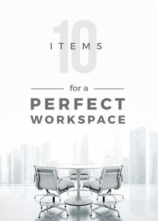 Szablon projektu Workspace Furniture Guide Office in White Flayer