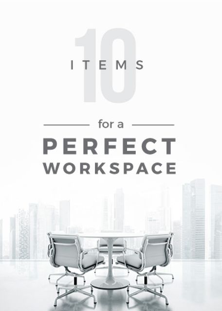 Workspace Furniture Guide Office in White Flayer Design Template