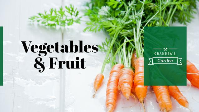 Grocery Store ad with raw Carrots FB event cover Modelo de Design