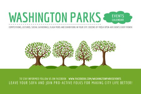 Plantilla de diseño de Events in Washington parks Gift Certificate