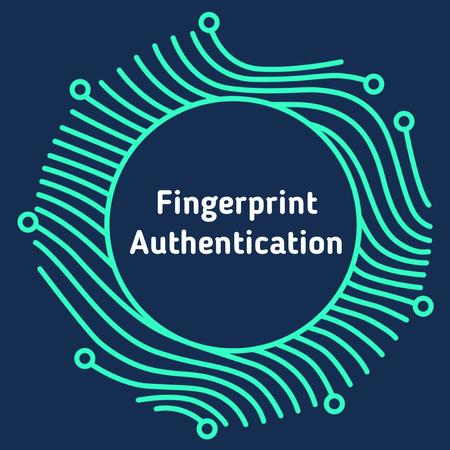 Ontwerpsjabloon van Animated Post van Digital fingerprint icon