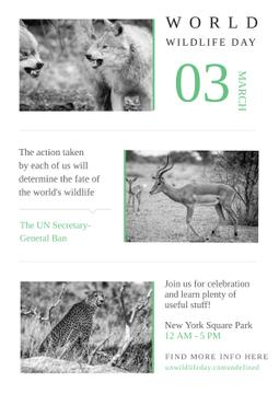 World wildlife day with Wild Animals