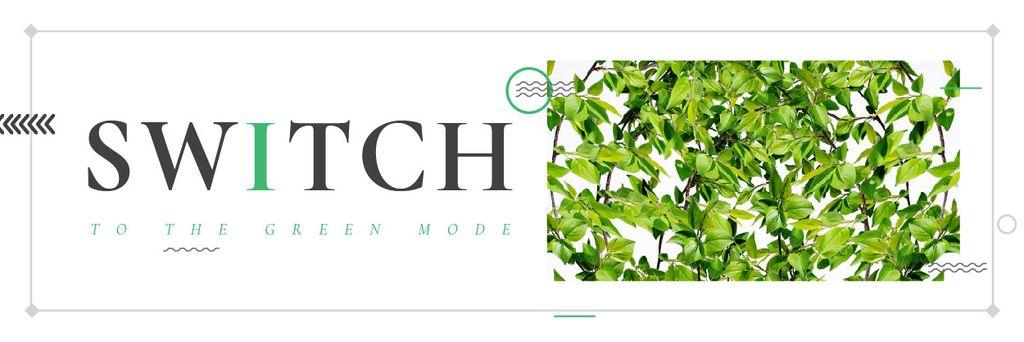 Switch to the green mode — ein Design erstellen