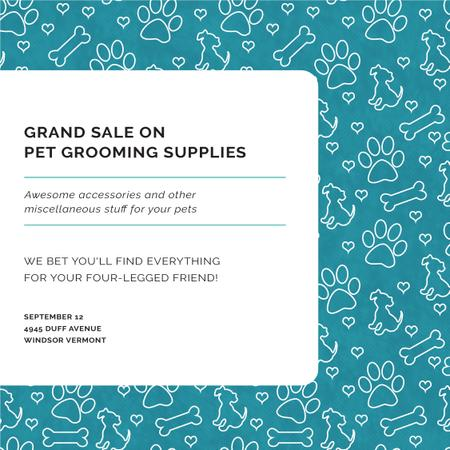 Plantilla de diseño de Grand Sale of Pet Grooming Supplies Instagram