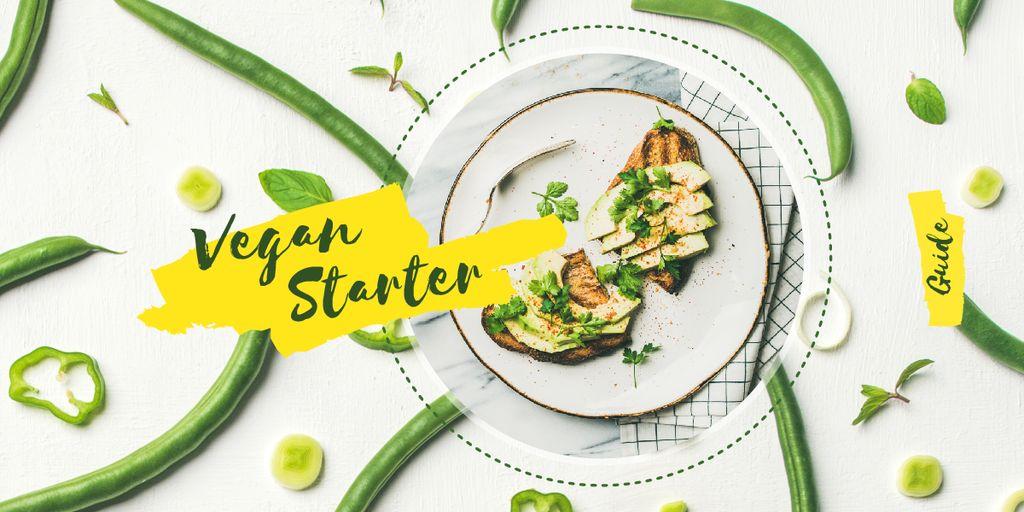 Toasts with green beans — Создать дизайн
