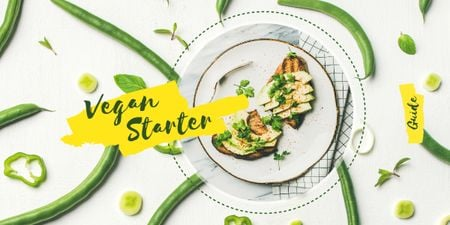 Template di design Toasts with green beans Image