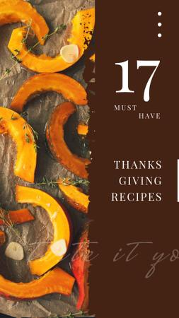 Template di design Roasting Thanksgiving pumpkin pieces Instagram Story