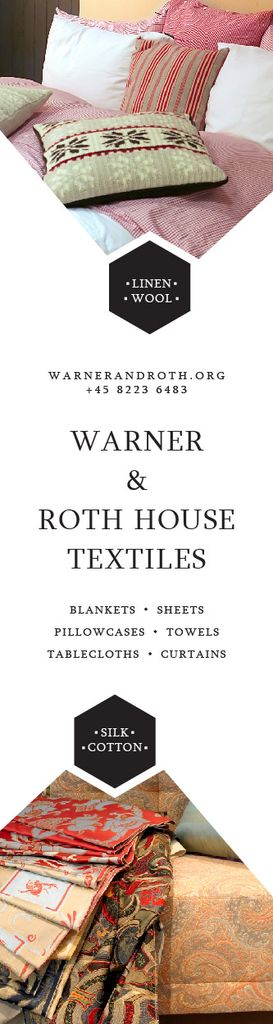 Ontwerpsjabloon van Skyscraper van Warner & Roth House Textiles