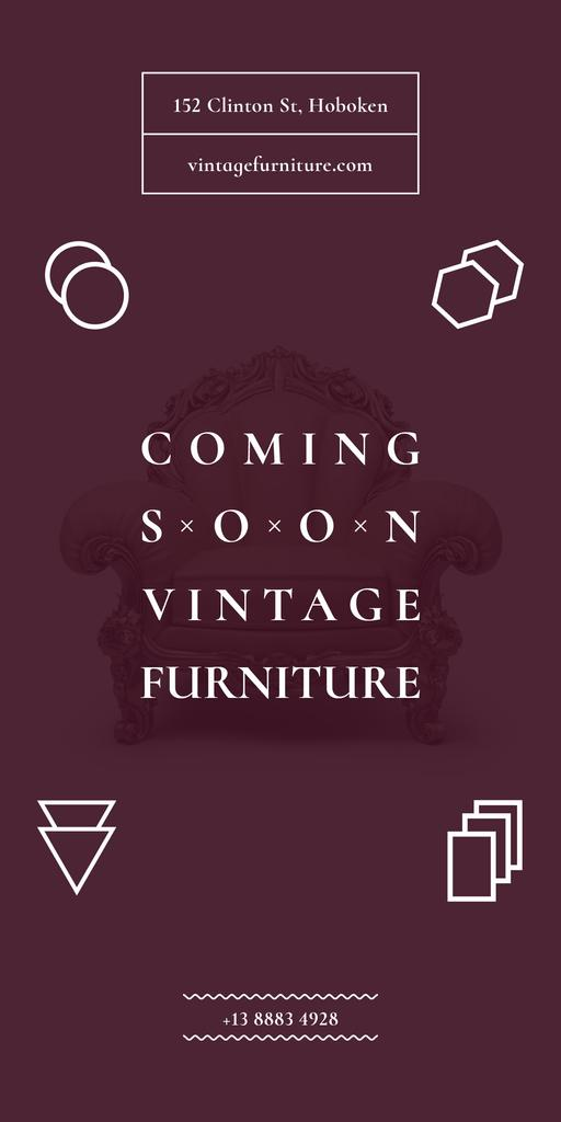 Coming soon vintage furniture shop — Maak een ontwerp