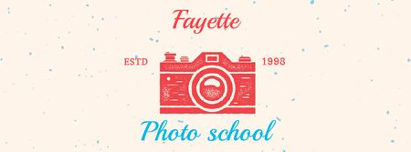 Stamp of photo camera Facebook Video cover Modelo de Design