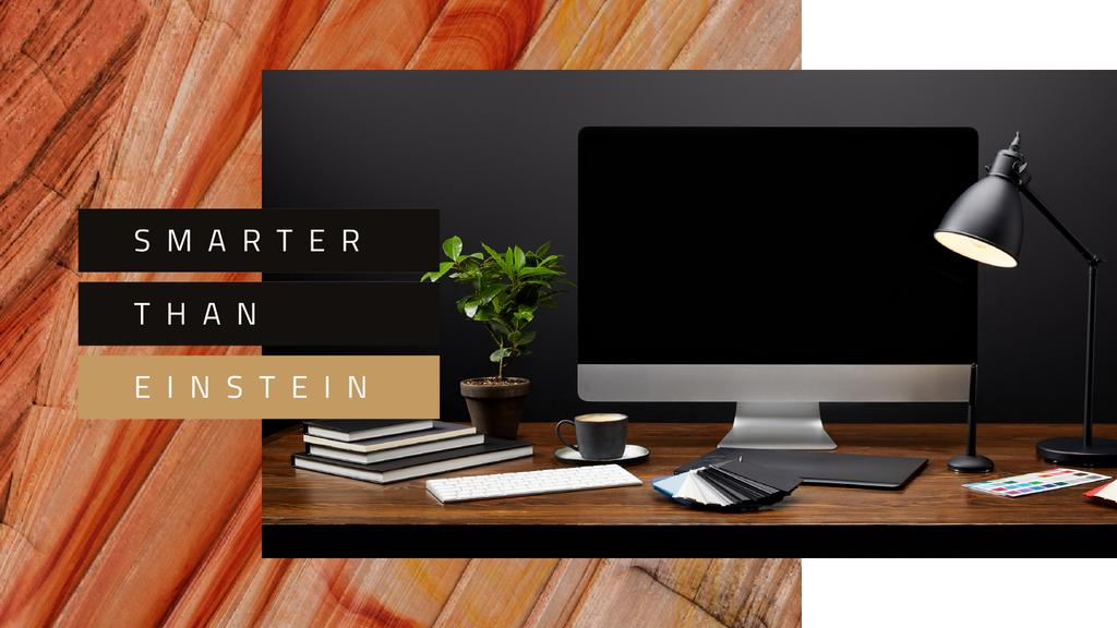 Computer on designer Working Table — Maak een ontwerp