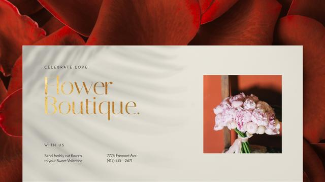 Szablon projektu Valentine's Day Florists Offer Pink Peonies Bouquet Full HD video