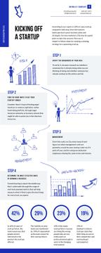 Business Infographics about Kicking of a Startup