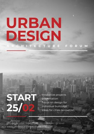 Urban Design architecture forum Posterデザインテンプレート