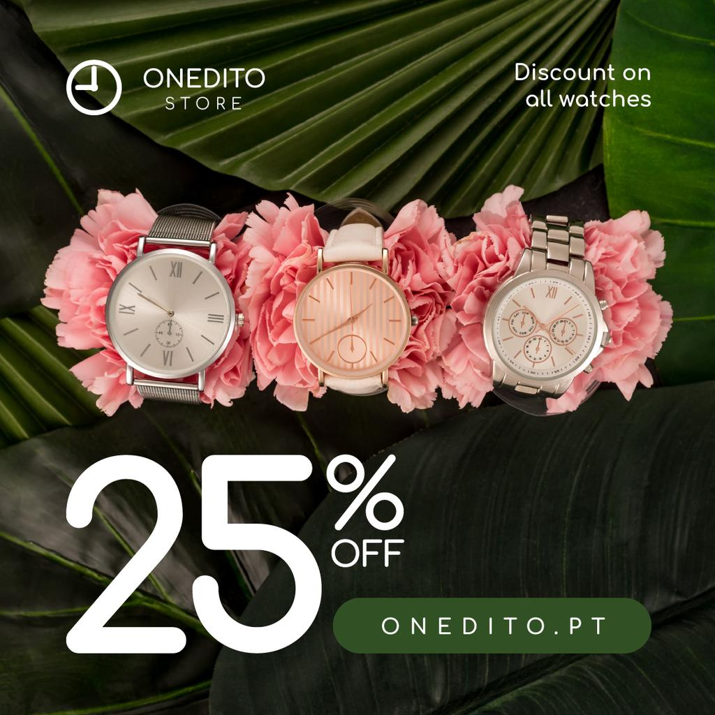 Accessories Store Sale Watches on Flowers — Create a Design