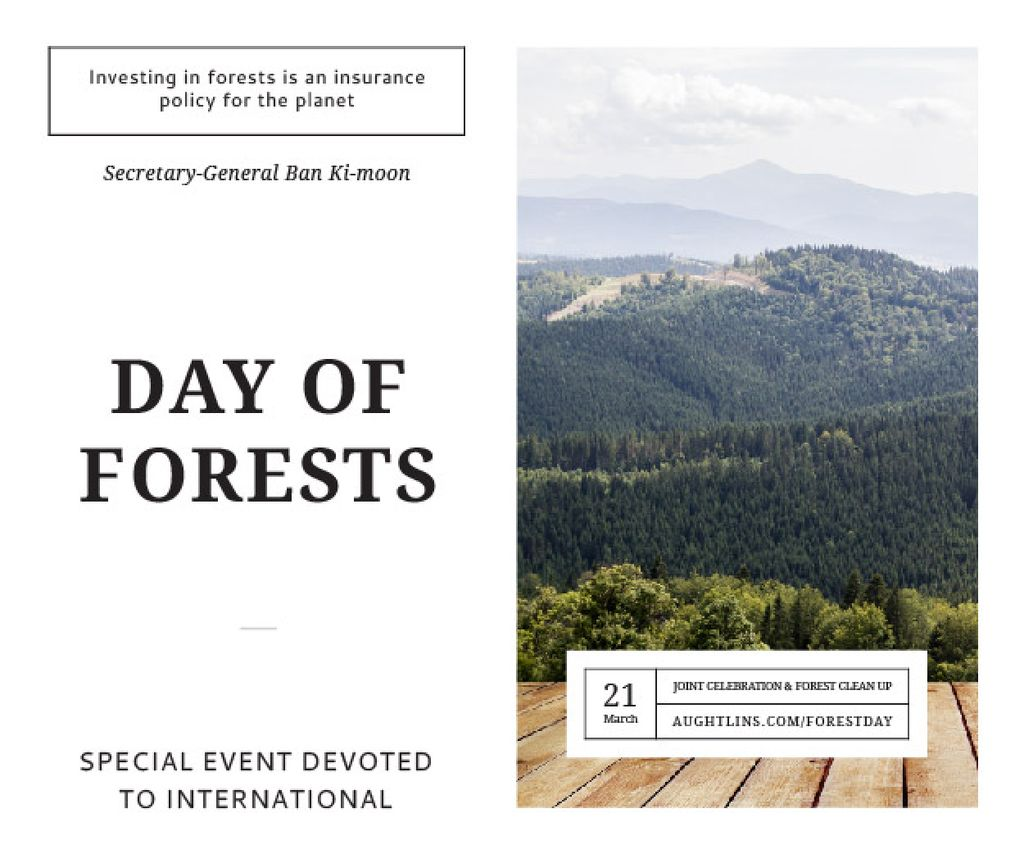 Onternational day of forests — Создать дизайн
