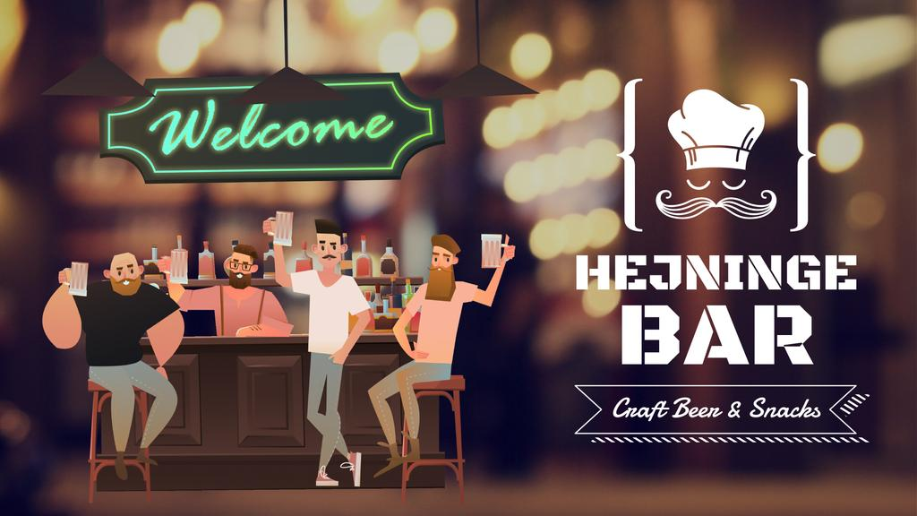 Bar Promotion Men Enjoying Drinks | Full Hd Video Template — Modelo de projeto