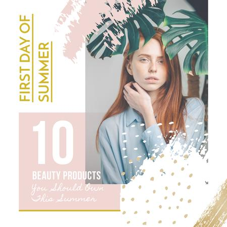 Plantilla de diseño de Beauty Products guide on First Day of Summer Instagram AD
