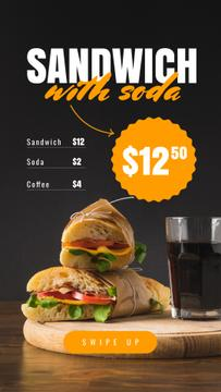 Fast Food Offer with Sandwiches
