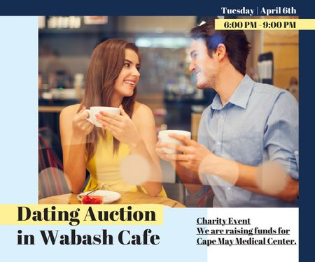 Plantilla de diseño de Dating Auction in Wabash Cafe Large Rectangle