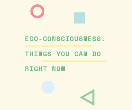 Template di design Eco-consciousness concept Large Rectangle