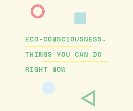 Eco-consciousness concept Large Rectangle Design Template