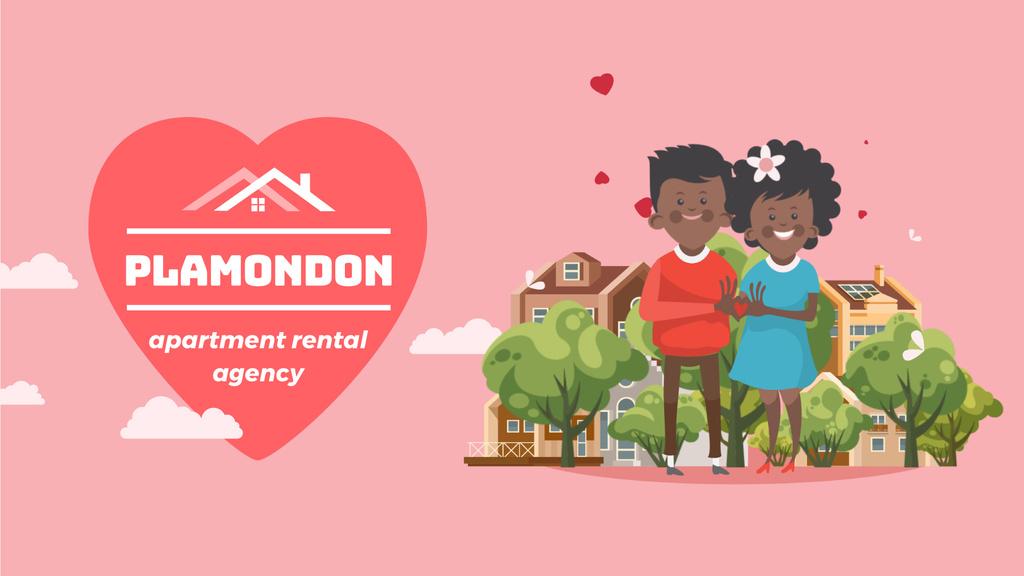 Real Estate Agency Loving Couple by Home — Crea un design