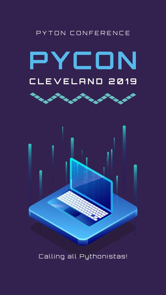 Laptop with digital background — Створити дизайн