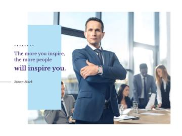 Business Quote Confident Man at the Meeting | Presentation Template