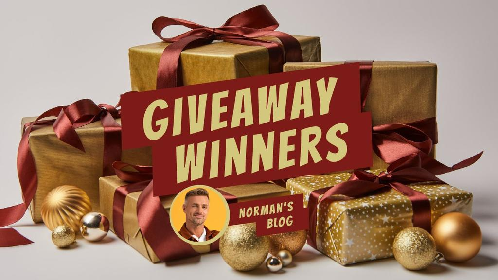 Blog Giveaway Promotion Presents in Golden Youtube Thumbnail Design Template