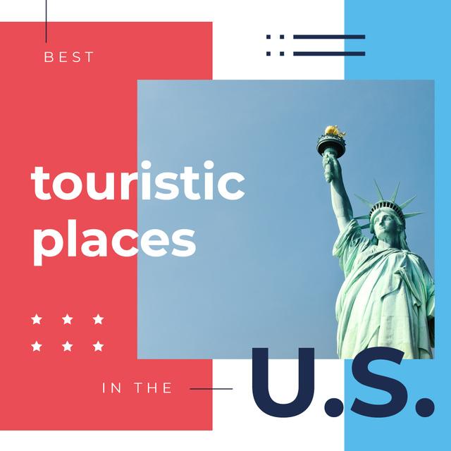Liberty statue in New York Instagram Modelo de Design