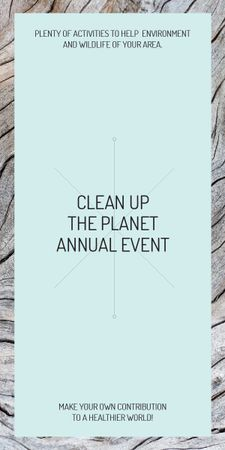 Plantilla de diseño de Ecological event announcement on wooden background Graphic